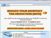 Reduce Your Monthly Tax Deduction in 2014 for 2015
