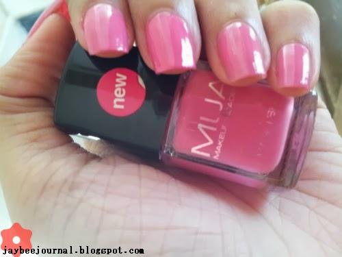 Makeup Academy MUA Nail Varnish Strawberry Cream Swatches