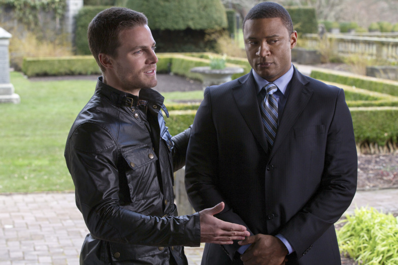 Arrow - Season 4 - David Ramsey Interview on DC Characters, His Costume & More