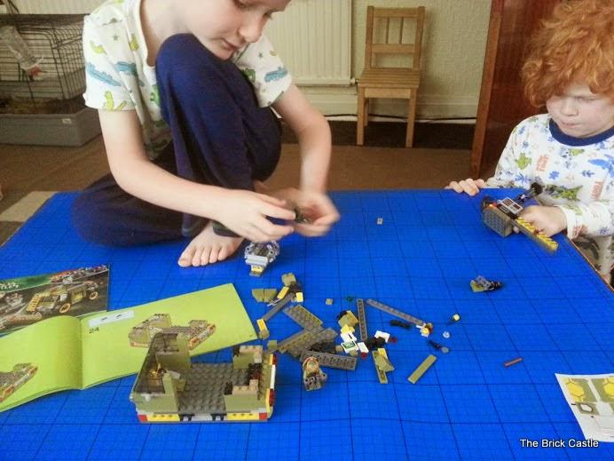 LEGO TMNT Turtle Van Takedown Set 79115 Review vehicle build children helping