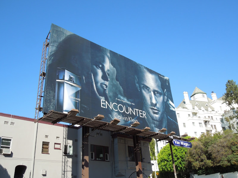 Calvin Klein Encounter fragrance billboard ad