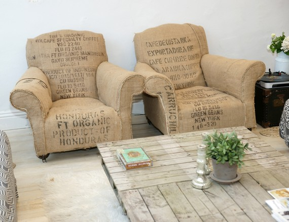 Sanctuary Home Vintage Coffee Bean Bag Chairs