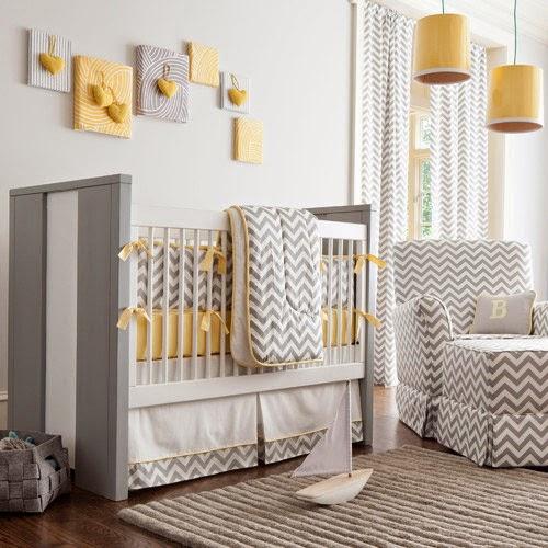 Decoracion En Gris Y Amarillo ~ Dormitorios para beb?s en gris y amarillo  Colores en Casa