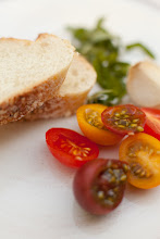 Ingredients for Roasted Heirloom Tomato Bruschetta