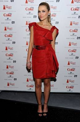 katrina-bowden-Red Cocktail Dress
