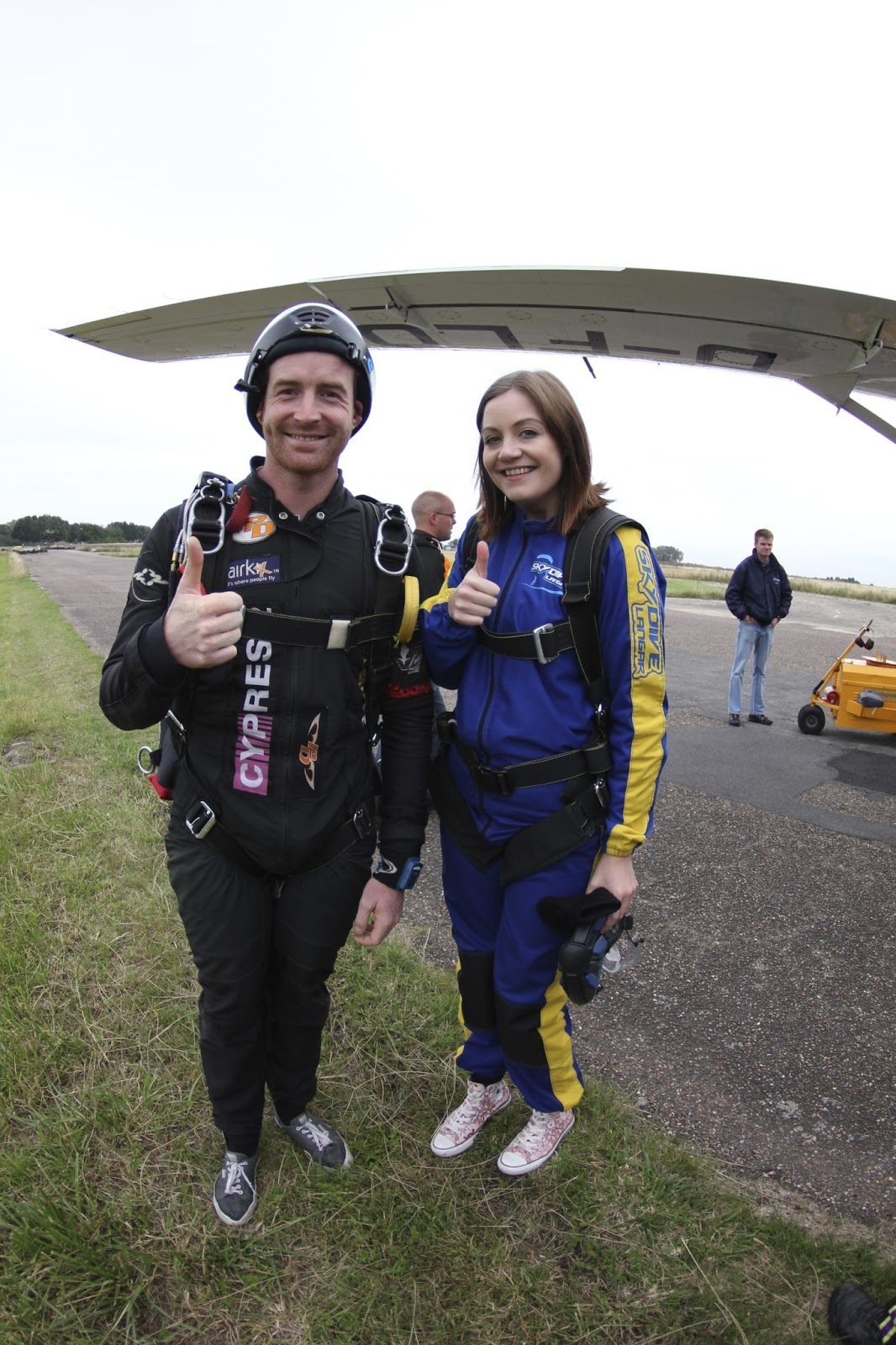 Dani Johanna's tandem skydive for Mind Charity