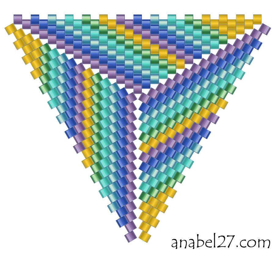 схемы плетения треугольников