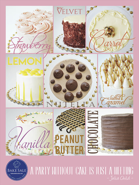 Bake Sale - new cake line up | three Toronto store locations