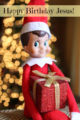 Elf-on-the-Shelf, what Christmas is really all about.