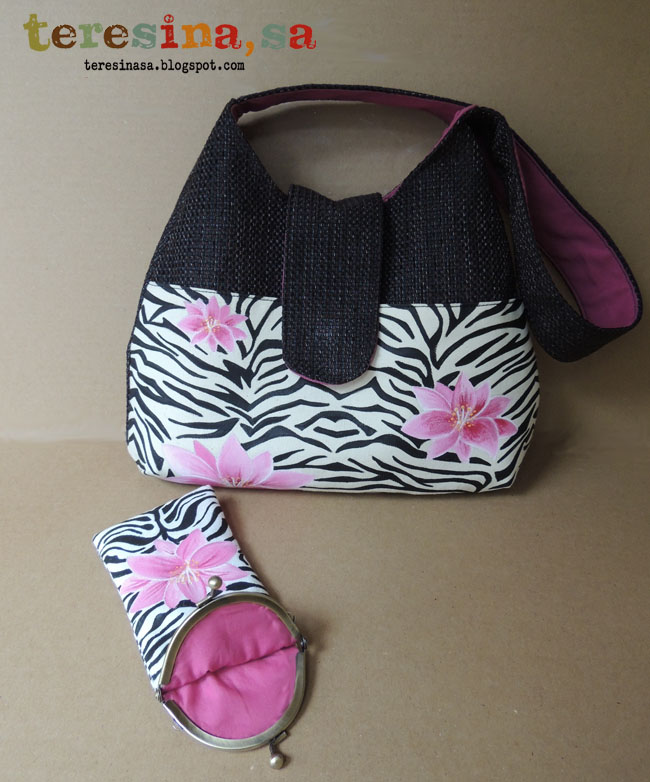 Bolso y funda gafas animal print