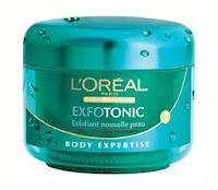 loreal exfotonic body scrub