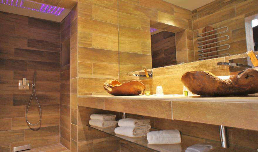 salle de bain contemporaine bois les carrelages de virginie sdb moderne et contemporaine - Salle De Bain Contemporaine Bois