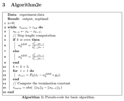 Algorithm2e if else