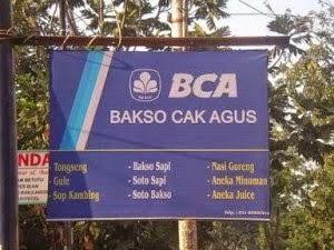 foto plesetan iklan lucu Bank BCA