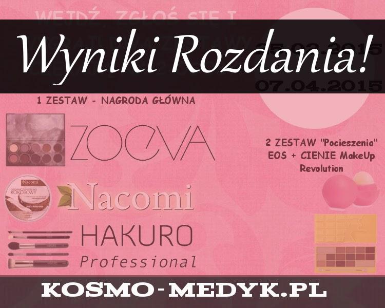 Rozdanie z produktami Zoeva, MUR, Hakuro, EOS i Nacomi wygrywają .....