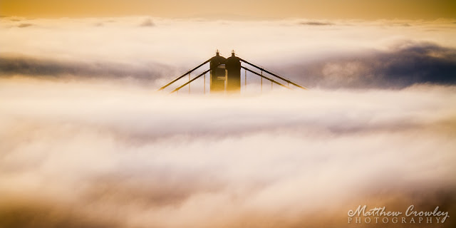 Emergence - the Golden Gate Bridge above the fog