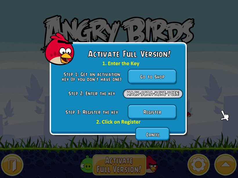 Angry birds classic the game full for free with crack for pc now start the game click on activate the full version enter the key that you have copied earlier and click on register thecheapjerseys Images