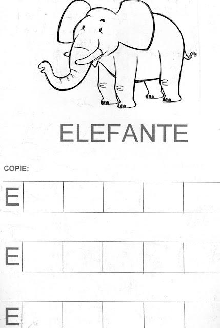 Atividades de Alfabetização coma letra E