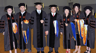 The Summer 2011 Ph.D. graduates from the College of Criminal are (l to r) Drs. Randa Embry, Kadir Akyuz, Hoon Lee, Napoleon Reyes, Claire Nolasco, Natalia del Rocio Tapia Mansilla and Alicia Deal.