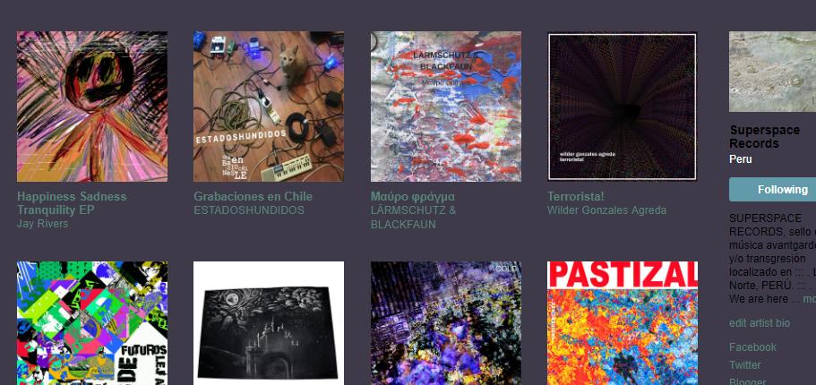 :. . SUPERSPACE RECORDS - TRANSGRESIONES SÓNICAS, MINIMALISMO Y VISIONES