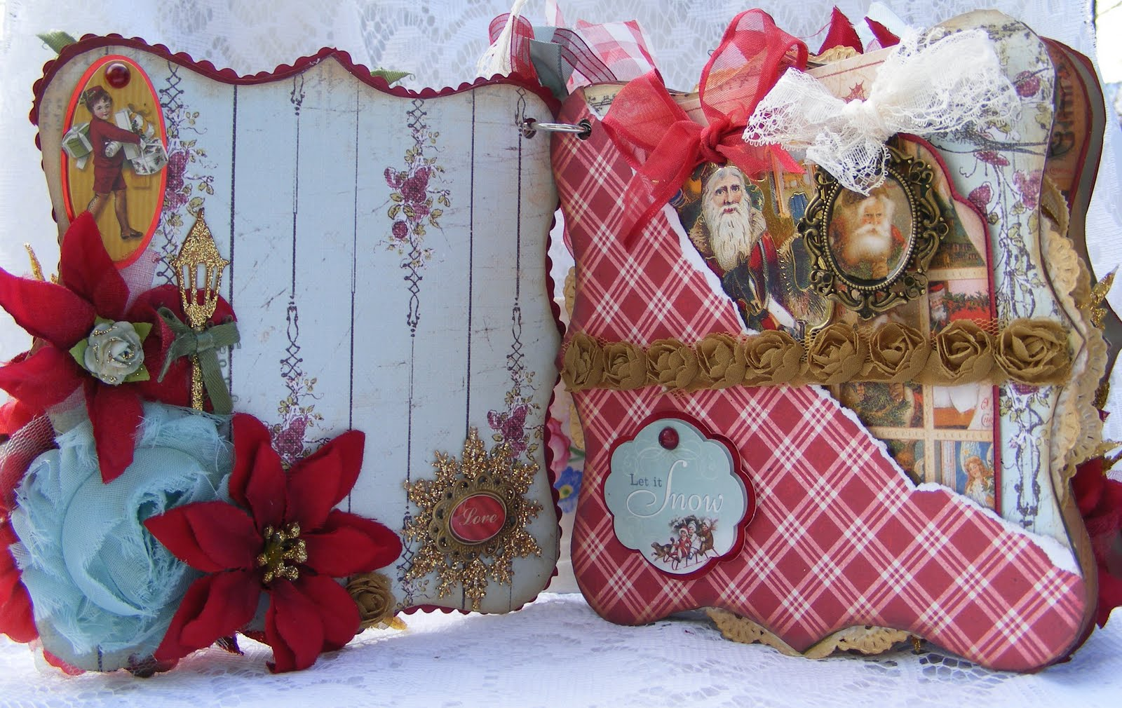 life as a scrapper victorian style christmas album