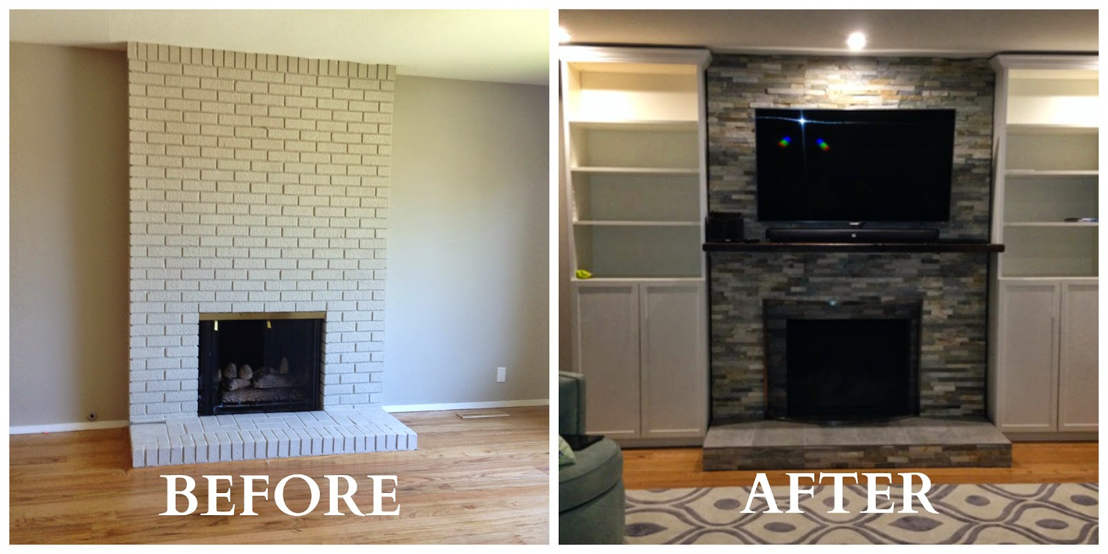 Greyowlconstruction fireplace remodels and masonry work for Fireplace renovations before and after