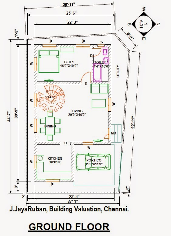 ... Elevation and Specifications for the Luxury Residential Building