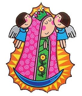 Virgencita Con Angeles Virgencitas Plis Para Imprimir Virgencita Con
