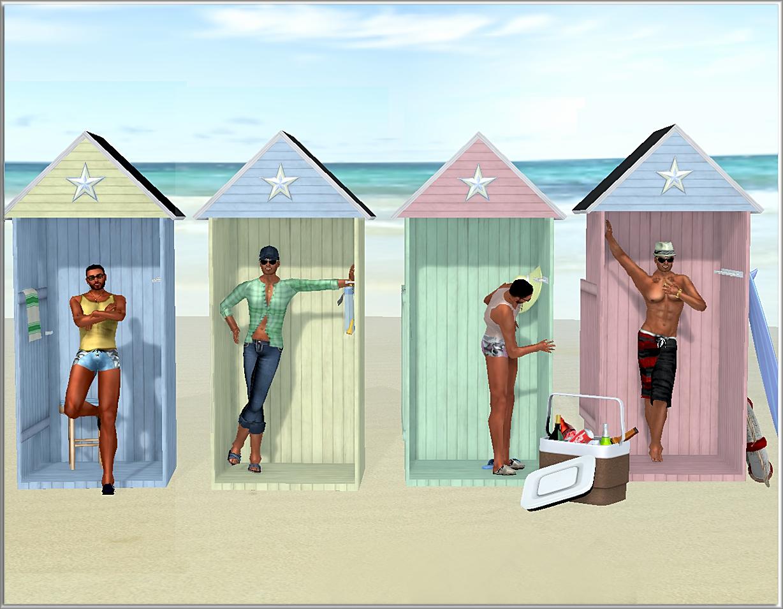 Sl posh little beach huts for Beach hut style