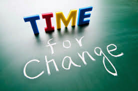 Image of the words time for change