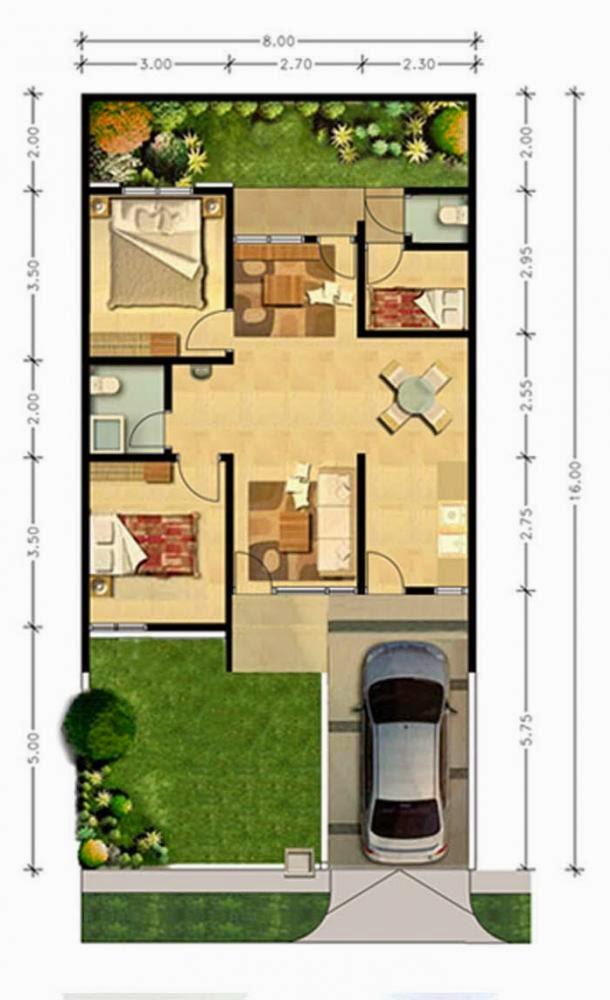Gambar Design Model Rumah Minimalis Modern Type 70 Rumah Minimalis