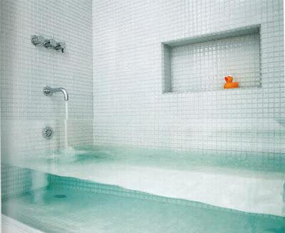 Bañera de super lujo con cristales