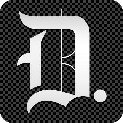 Daily Dot stylized D logo, white letter on black background