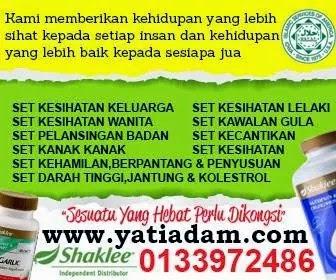 pengedar shaklee yatiadam