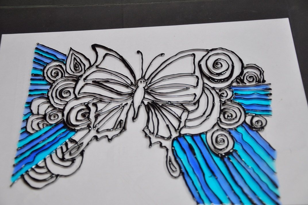 Get Creative How To Make A Glass Painting Butterfly