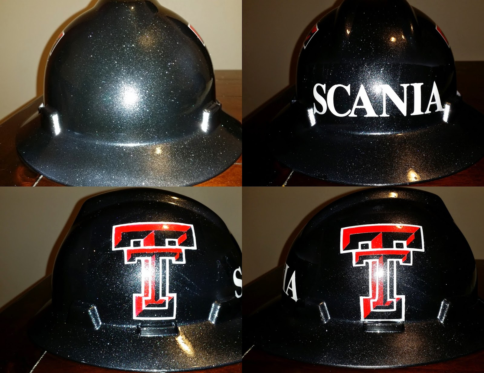 airbrushed texas tech hard hat