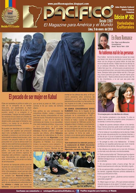 Revista Pacífico Nº 362 Variedades Culturales