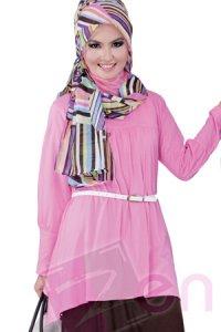 Zenitha Blus Zn114 - Pink (Toko Jilbab dan Busana Muslimah Terbaru)