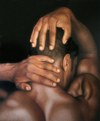 Omar Ortiz creates amazingly photorealistic paintings of nude female ...: designheard.blogspot.com/2012/07/omar-ortiz.html#!