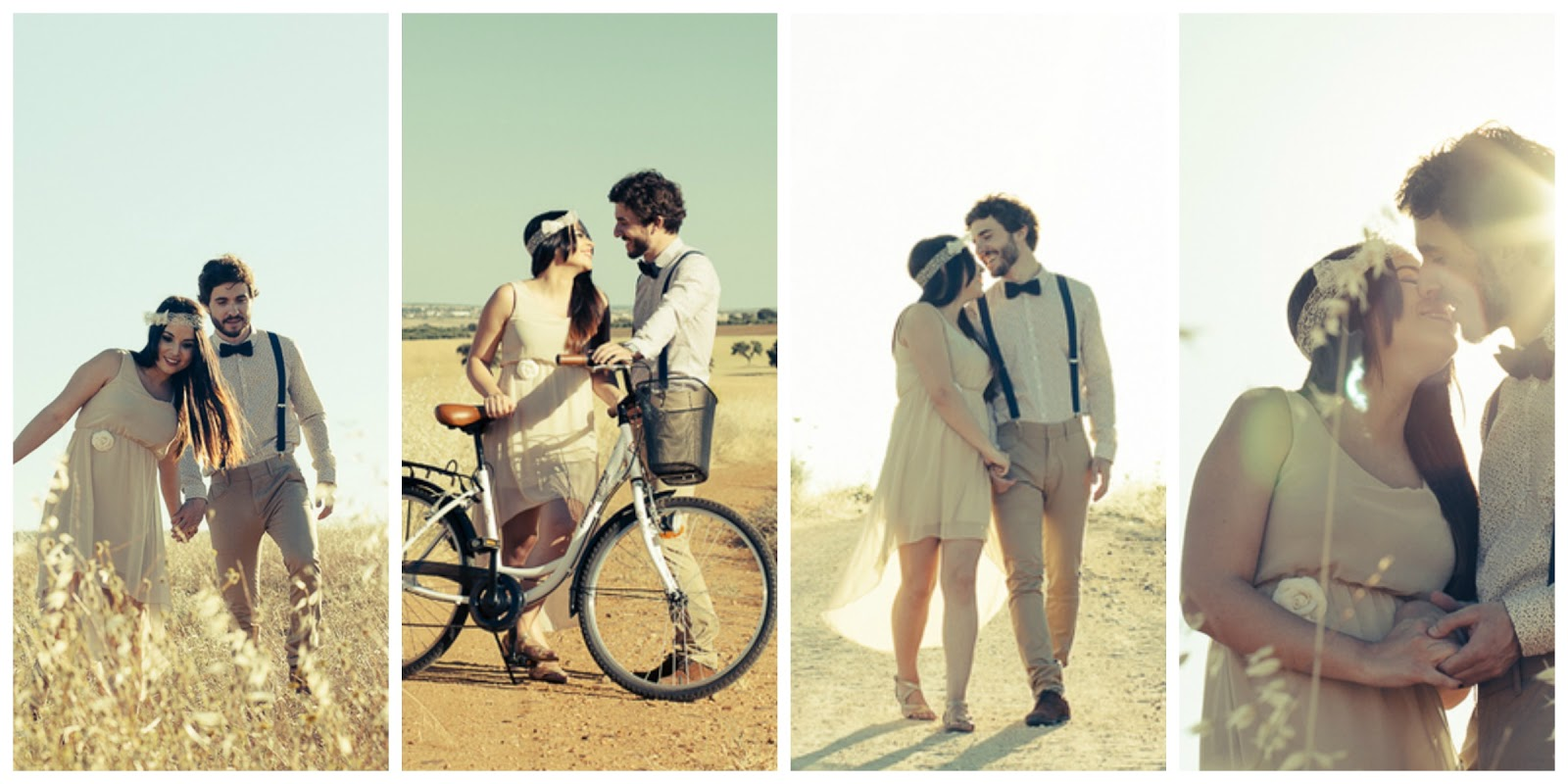 bohemian vintage inspired, boho-vintage, spanish wedding photographer