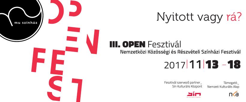 OPEN 2017 - Nemzetközi Közösségi Színházi Fesztivál