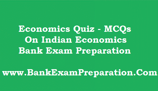 Economics Quiz - MCQs for Indian Economics