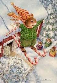 Imagens para decoupage de ratos natalinos