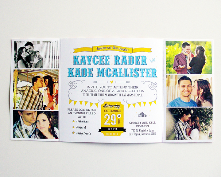 Kimberly Church || Carnival Wedding Invitations