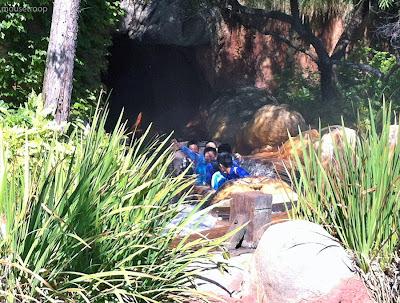 Splash Mountain Disneyland log riders turnaround wet soaked