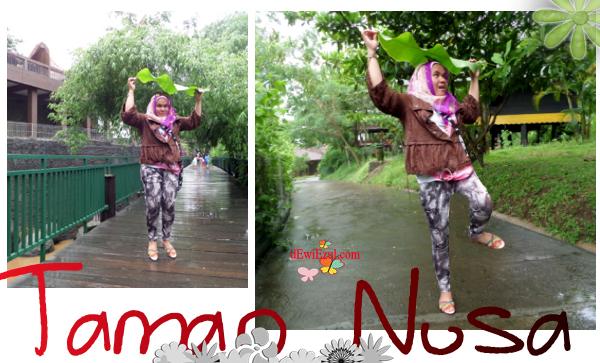 jalan jalan ke Taman Nusa balisaat hujan