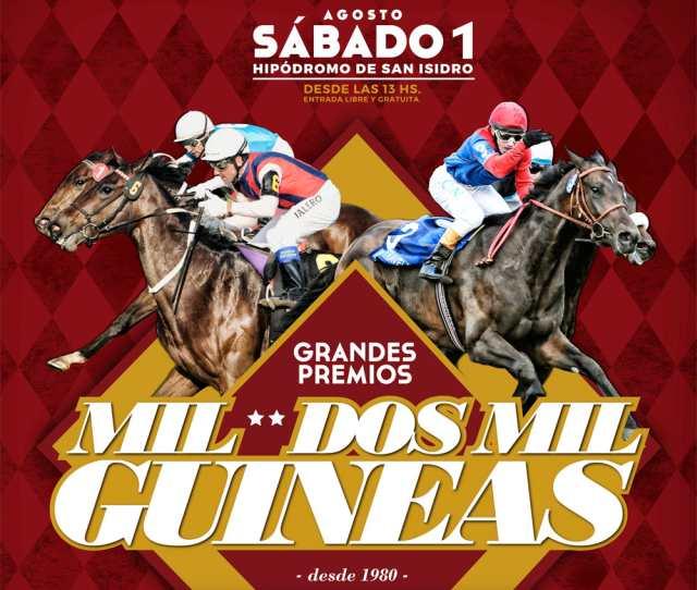 Grandes Premios Mil y Dos Mil Guineas Hipódromo San Isidro