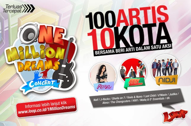 simPATI One Million Dream Concert Untuk Pendidikan Indonesia