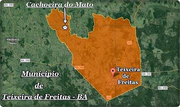 MAPA DE TEIXEIRA DE FREITAS.