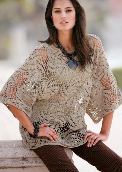 Blusa de Espirales a Crochet